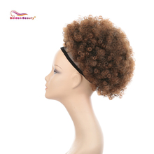 Golden Beauty 10inch Afro Puff Drawstring Ponytail Kinky Cur