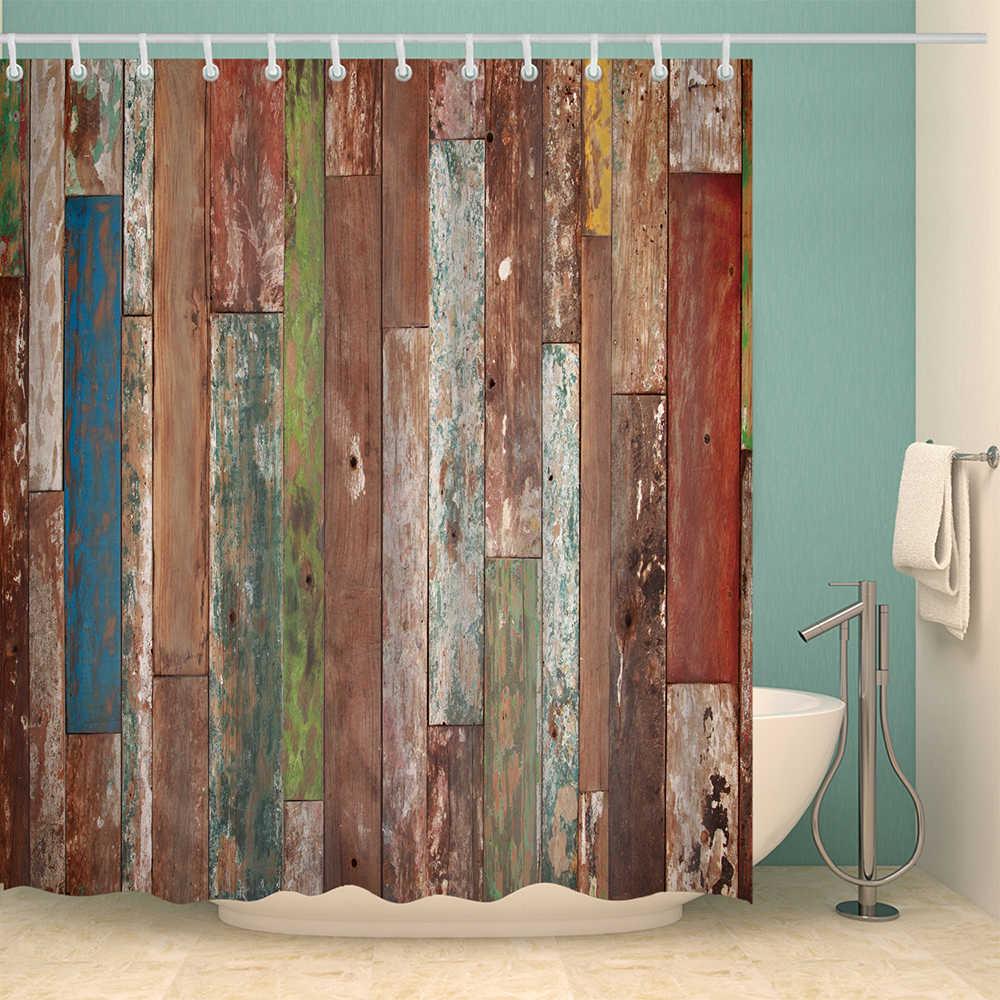 Superbe ... Cabin Rules Shower Curtain Vintage Wood English Letters Bathroom  Curtain Farmhouse Rideau De Douche 3D Multicolor ...