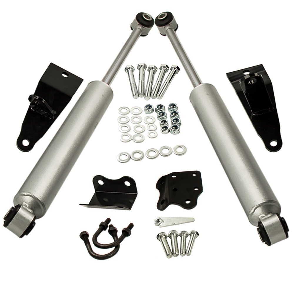 Dual Steering Stabilizer for 2003-2012 Dodge Ram 2500 3500 4WD