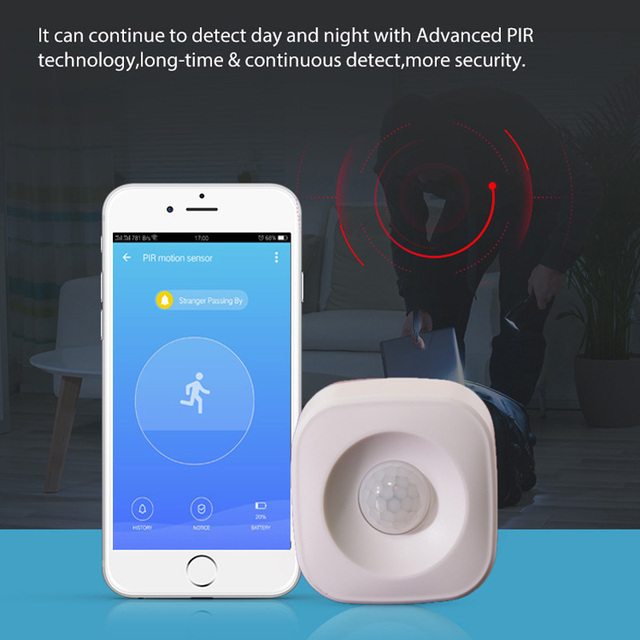 KERUI WIFI PIR Motion Sensor Detector APP Control Standalone Alarm System For Home Security Compatible with ISO Android