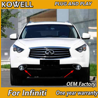 KOWELL Car Styling for Infiniti EX FX JX QX 25 35 37 LED Fog Light Auto Angel Eye Fog Lamp LED DRL 2 function model