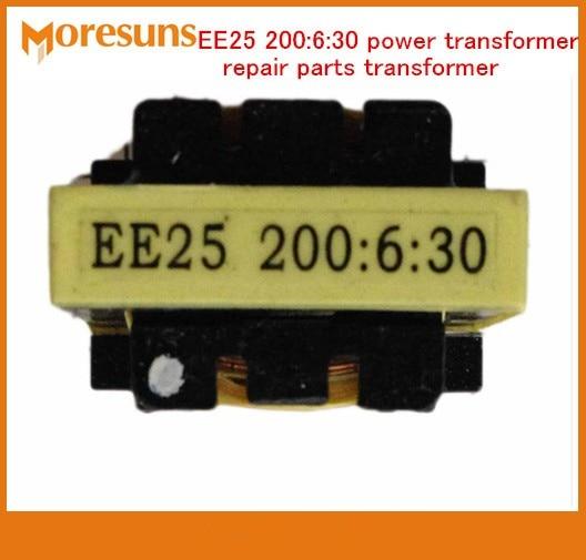 Free Ship 5pcs/lot Inverter Welding Machine With Electric Transformer EE25 200:6:30 Power Transformer Repair Parts Transformer