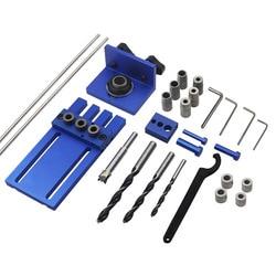 CMHI herramienta de carpintería de aleación de aluminio de alta precisión DIY Kit de plantillas de espiga de alta precisión 3 en 1 localizador de perforación juego de guías de taladrado