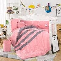 Новый стиль 10 шт./компл. новорожденных детские кроватки Постельное белье хлопок Постельное белье включают бампер Стёганое одеяло матрас По