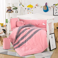 New Style 10PCS/set Newborn Baby Crib Bedding Set Cotton Bedding Set Include Bumper Quilt Mattress Pillow