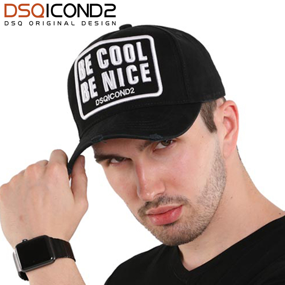 DSQICOND2 High Quality Embroidery Letter Cotton Baseball Cap Casual Hip Hop Cap Men 2018 DSQ Outdoor Dad Hat for Women Wholesale feitong summer baseball cap for men women embroidered mesh hats gorras hombre hats casual hip hop caps dad casquette trucker hat