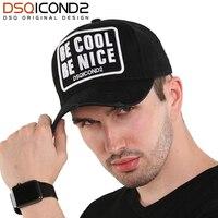 DSQICOND2 alta calidad carta bordado algodón gorra de béisbol Casual Hip  Hop Cap hombres 2018 DSQ e98717f0092