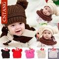 Novo 2016 Outono Inverno Crianças Beanie Moda Bonitos Do Bebê Chapéus Cap Quente das Crianças Marca Casuais Tampas De Malha Para Meninos acessórios