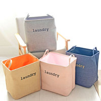 Creative Thick Double Foldable Storage Basket Debris Storage Box Household Coin Linen Laundry Clothes Folding Storage Bags Gifts