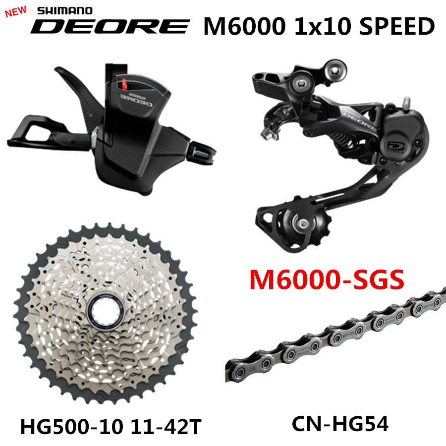 Shimano DEORE M6000 Groupset 1x10-Speed 11-46T M6000 Rear Derailleur Shift Lever