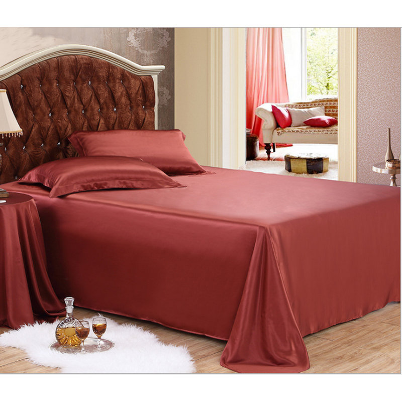 22m/m Pure White 100% Mulberry Silk flat Sheets Sets 1 pcs multicolor silk bedding