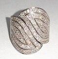 Виктория вик вымостите комплект 100 шт. топаз моделируется алмаз 10KT белое золото заполненные кольцо диапазона для женщин Sz 5-11 подарок
