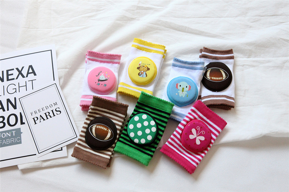 1 pair Summer Baby Safe Knee Pads Mesh toddlers kneepads Kids safety crawling cushion Short leg warmers kneecap