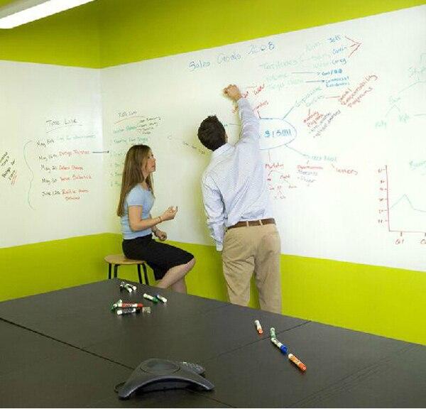 la maxza 200x60cm vinyl dry erase whiteboard home office use