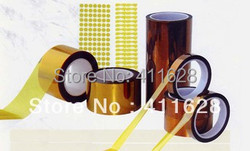 1x 250mm*33 meters, 0.06mm thick High Temperature Resistant Adhesive Masking Tape, Polyimide Tape