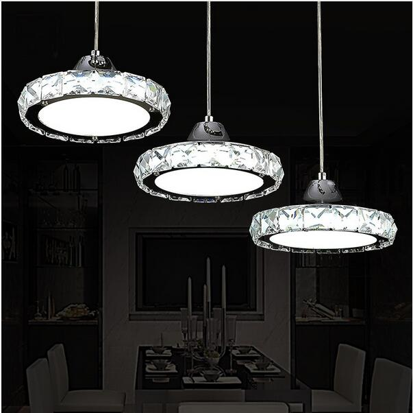 European Round LED Restaurant Pendant Light Modern Minimalist - Led table lights for restaurants