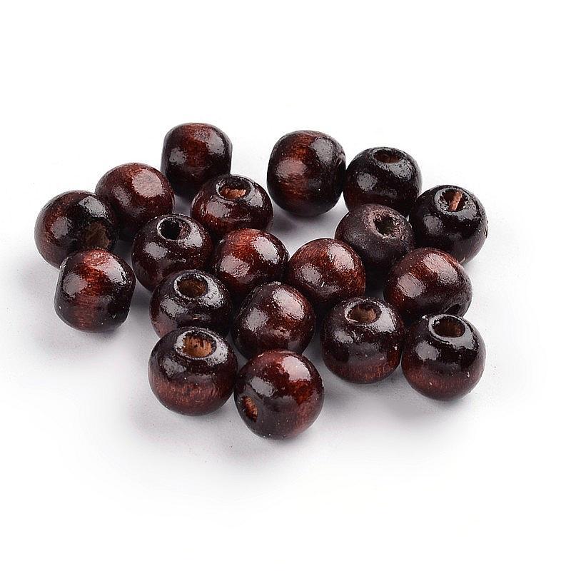 100PCS de noix de coco marron sans plomb tonneau bois perles artisanat Jewelry Making 12x11mm