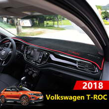 Car Dashboard Cover Mats Avoid light Pad Instrument Platform Desk Carpets Trim LHD For Volkswagen VW T ROC T ROC TROC 2017 2018