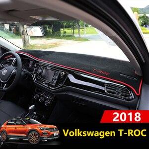 Image 1 - Car Dashboard Cover Mats Avoid light Pad Instrument Platform Desk Carpets Trim LHD For Volkswagen VW T ROC T ROC TROC 2017 2018