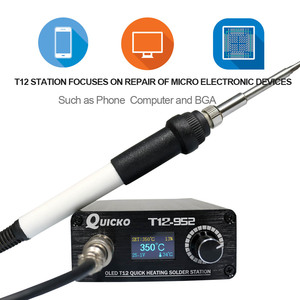 Image 2 - Schnell Heizung T12 löten station elektronische schweißen eisen 2020 Neue version STC T12 OLED Digitale Löten Eisen T12 952 QUICKO