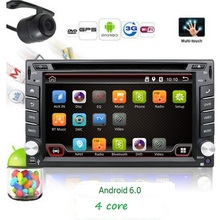 2 Din Pure Android 6.0 Car DVD GPS Navigation Stereo Radio GPS WiFi 3G MP3 CAPACITIVE Multi-Touch Screen+TV+iPod+3D MAP+Camera