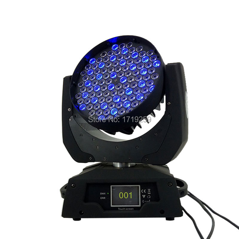 LED Wash Moving Head Light 108X3W RGBW LED Stage Lighting DJ Disco Lighting DMX Sound Professional Stage Light for Event/wedding freeshipping 2xlot 108 3w rgbw wash led moving head light 24 red 28 green 28 blue 28 white edison led 3w free clamp safety wire
