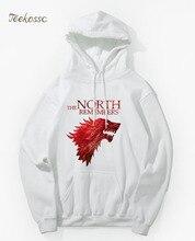 Juego de tronos El Norte recuerda la casa Stark Sudadera con capucha sudaderas con capucha sudadera hombres 2018 nuevo invierno otoño con capucha Hip Hop chaqueta