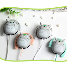 Earphone Cartoon Fashion Totoro Headset Lovely Anime Earplugs With Mic For Android Smart Phone Child Student Gifts(China)
