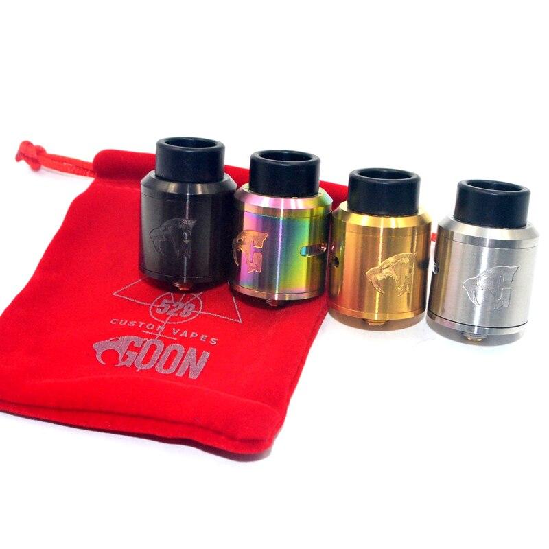 E Cigarette Goon V1.5 RDA 528 Atomizer Electronic Cigarette SS Material 24mm Diameter Mech Tank For 510 Vape Mods Vaporizer Kit
