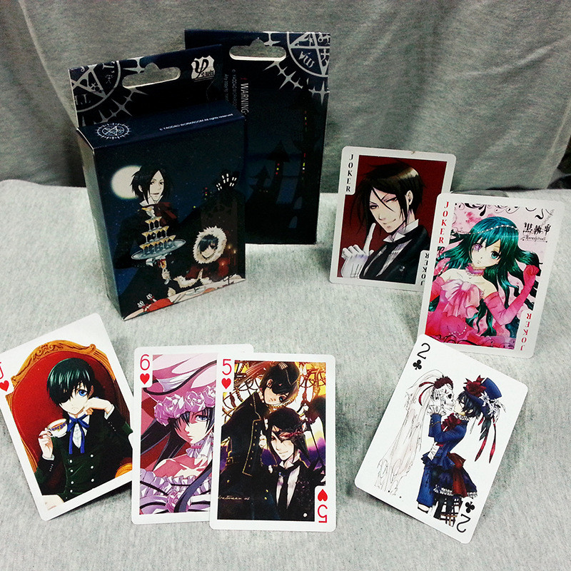 54 Sheets/Set Anime Black Butler Poker Cards Comics Character Collection Playing Cards Christmas And New Year Gifts