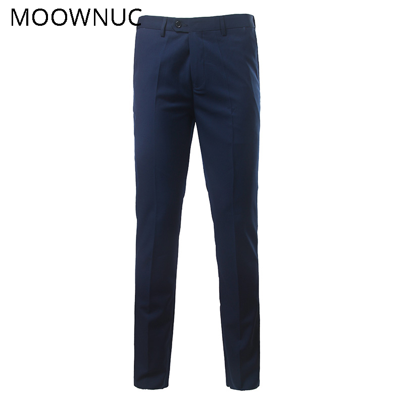 Trousers Pants Suit Fashion Male Groomsman Casual Men Business Longs New Wedding Brand Slim Fit MOOWNUC