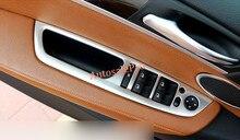 Правый руль Для BMW X5 E70 2008-2013 Интерьер Окна Двери Переключатель Рамка Планки