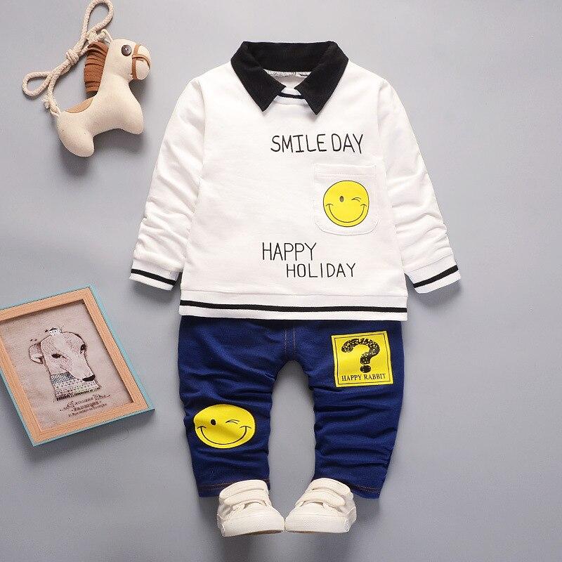 BibiCola fashion spring autumn baby boys cotton clothing set t-shirt pants 2pcs set infant tracksuit kids clothes casual outfits