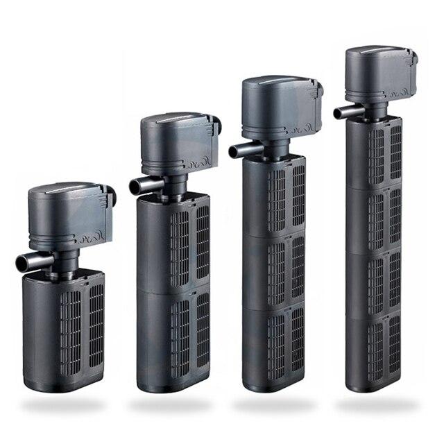 Potente bomba de filtro de acuario 12/18/25/35 W para filtración de tanque de peces, estanque sumergible biológico más esponja filtro bomba pulverizador