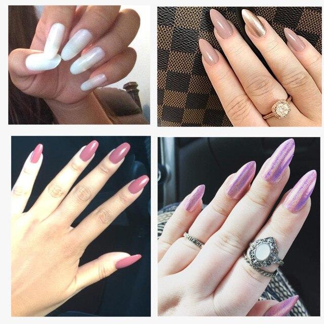 10 sacs/lot Long ovale rond ongles faux ongles ovales naturel couverture complète faux ongles conseils pour bricolage et Salon en gros Makartt