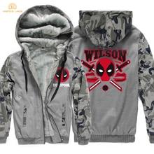 Super Hero Newest Deadpool Hoodie Men 2019 Winter Warm Wade Wilson Hip Hop Mens Sweatshirts Thicken Tracksuit Brand Coat