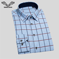 Shirts Men 2016 New Arrival Plaid Casual Shirt  Long Sleeve Features Casual Slim Fit Chemise Homme Male Brand Clothing  N776