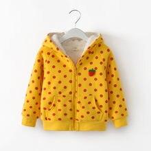 47aa8b3bc83 BibiCola kids girls warm jacket clothing children spring autumn cotton thicken  velvet outerwear baby girls cartoon hoodies coats