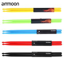 Drum Accessories 5A Drumsticks Drum Sticks Nylon Material Lightweight Design for Drum Set 5 Colors for Choosing