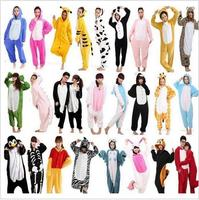 2017Wholesale Rainbow Unicorn Kigurumi Stitch Unisex Flannel Hoodie Pajamas Costume Cosplay Animal Onesies Sleepwear Women Adul