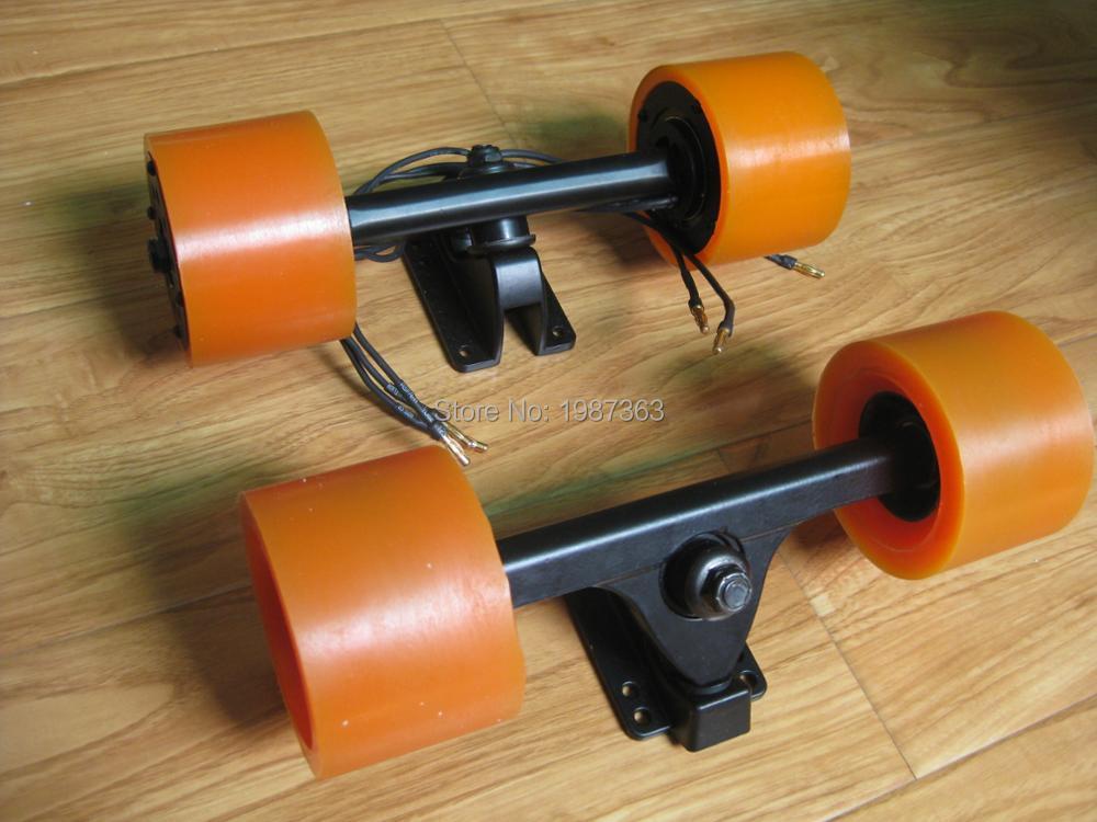 Kit moteur double moyeu + camion avant + roues