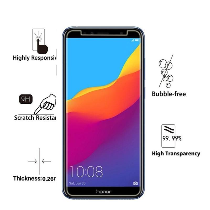 För Huawei Honor 7A Pro 5,7 tums skärmskydd 2.5D 9H härdat glas - Reservdelar och tillbehör för mobiltelefoner - Foto 3