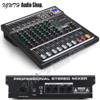 8 Channels Audio Mixer Professional DJ Mixing Console with Digital DSP Effects with Bluetooth USB +48V Phantom Power for Stage