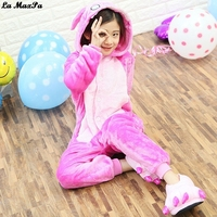 Animal Flannel Onesie Kigurumi Children Kids Anime Cartoon Costumes Sleepwear Pajamas Winter Warm Onesie Unicorn Panda