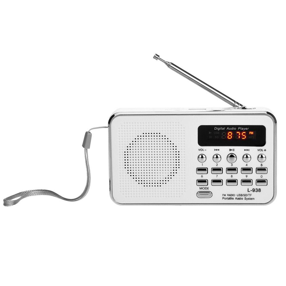 Radio L-938 Mini Fm Radio Digitale Portable 3 Watt Stereo Lautsprecher Mp3 Audio Player W/1,5 Zoll Bildschirm Unterstützung U Scheibe Tf-karte Aux-in