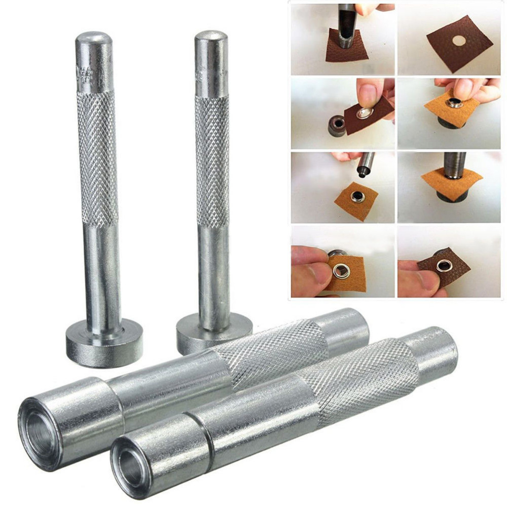 Eyelet Punch Die Tool Hole Cutter kit for Leather Craft Clothing Grommet Banner