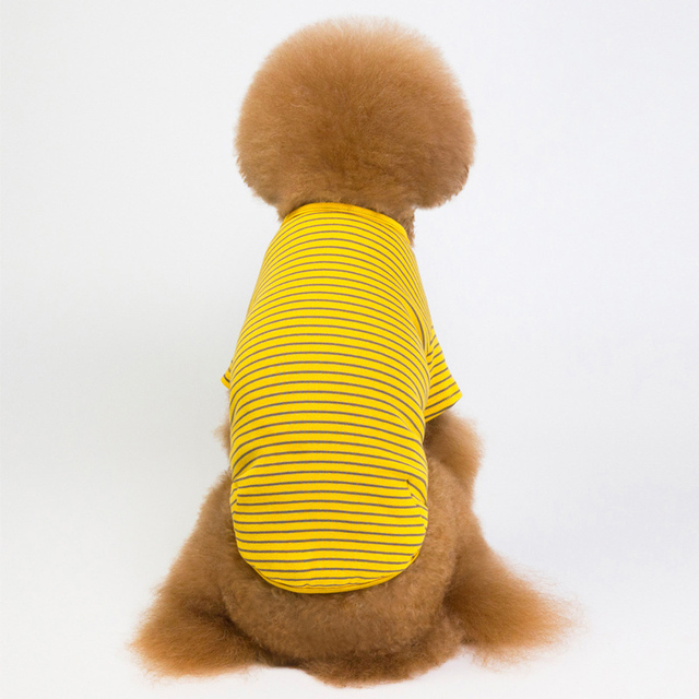 6 Colors Striped Dog Clothes For Dog Shirt Vest Spring Autumn Dogs Pets Clothing For Small Dogs Clothing Pet Outfits Chihuahua 4