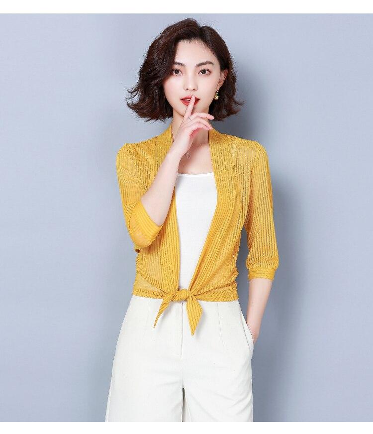 HTB1dP0 R9zqK1RjSZFLq6An2XXa9 Women coats 2019 fashion ladies coats shirts short coats Solid Three Quarter office lady Open Stitch coats women 3723 50