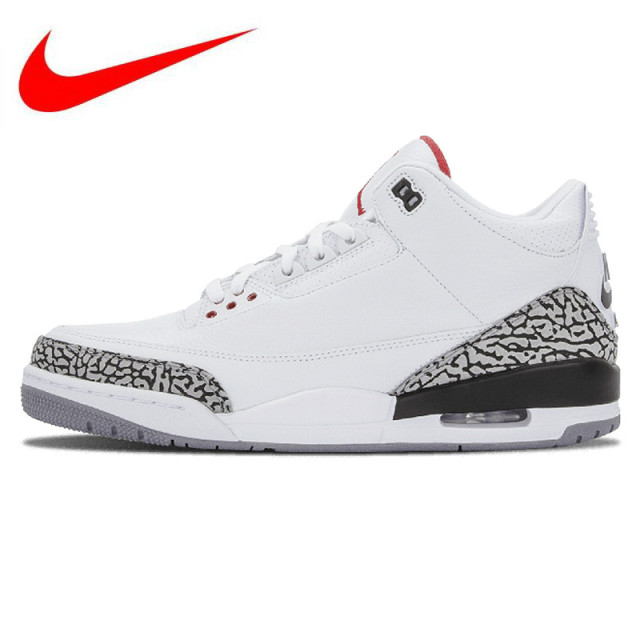 fe1512cdc55 Original Nike AIR JORDAN 3 RETRO  88 AJ3 OG Joe 3 White Men s Basketball  Shoes Sneakers Sports 580775-160