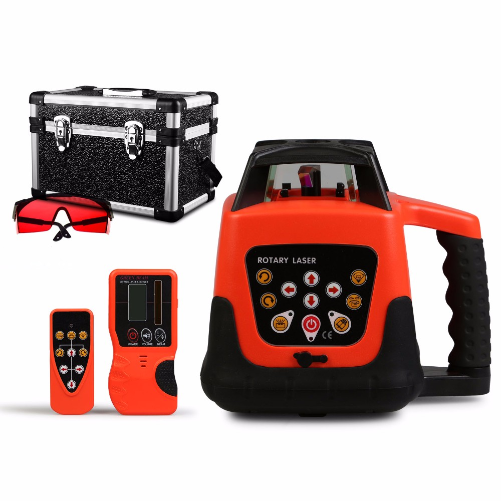 RED ROTARY LASER LEVEL ROTATING EXTERIOR 500M RANGE
